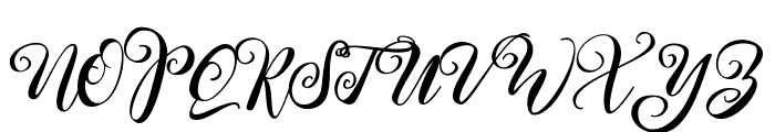 Kimberly Regular Font UPPERCASE