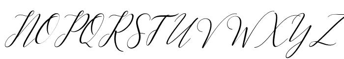 KimberlySlant Font UPPERCASE
