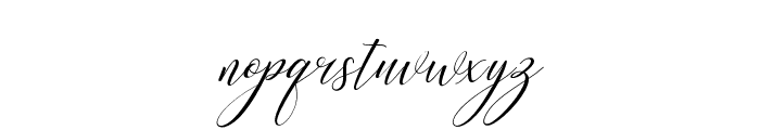 KimberlySlant Font LOWERCASE