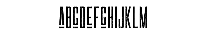 LAS VALLES Textured Vintage Font LOWERCASE