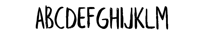 Leafy Extended Font UPPERCASE