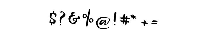 Lightening Sans Font OTHER CHARS