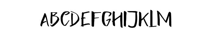 Lightening Sans Font UPPERCASE