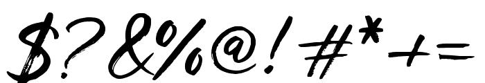 Los Banditos Script Font OTHER CHARS