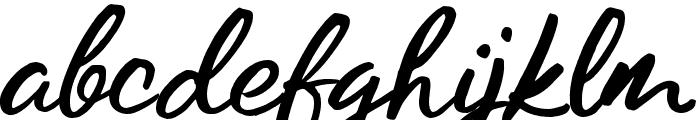 Los Banditos Script Font LOWERCASE