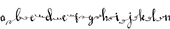LoveMileScriptLeftSwashes Font LOWERCASE
