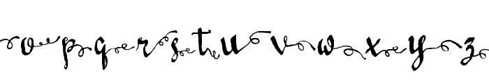 LoveMileScriptRightSwashes Font LOWERCASE