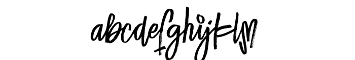 Lucky Fashion Alt Font LOWERCASE