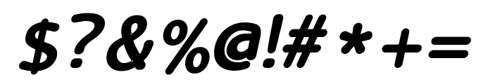 LucyRounded Bold Italic Font OTHER CHARS