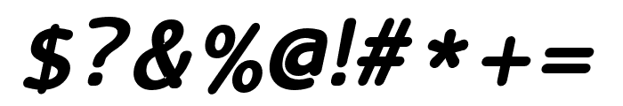 LucyRounded-BoldItalic Font OTHER CHARS
