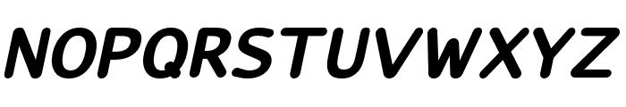 LucyRounded-BoldItalic Font UPPERCASE