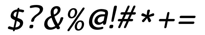 LucyRounded-Italic Font OTHER CHARS