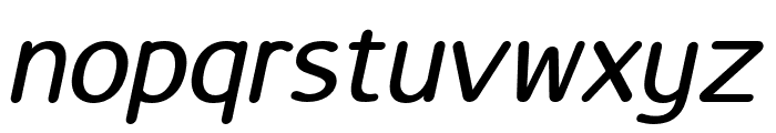 LucyRounded-Italic Font LOWERCASE