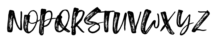 LunarBlossomBrush Font UPPERCASE