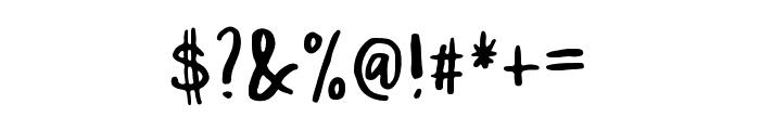 Malibu Font OTHER CHARS