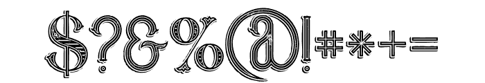 Marin Victorian Grunge Font OTHER CHARS
