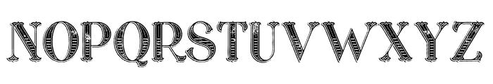 Marin Victorian Grunge Font UPPERCASE