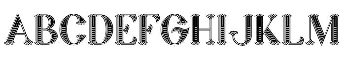 Marin Victorian Font UPPERCASE