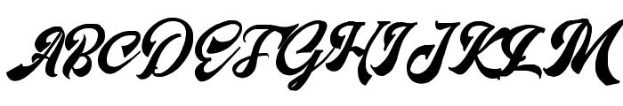 Matchstic Script Font UPPERCASE