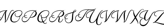 Melissa Script Regular Font UPPERCASE