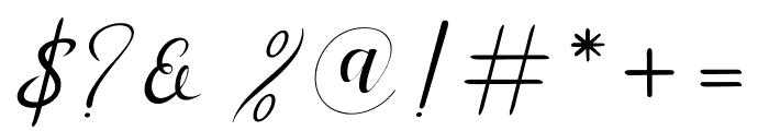 Menttion Script Regular Font OTHER CHARS