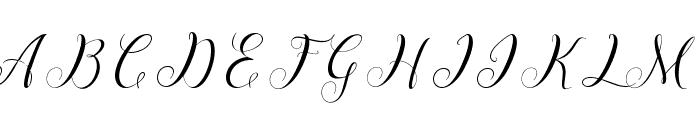 Menttion Script Regular Font UPPERCASE