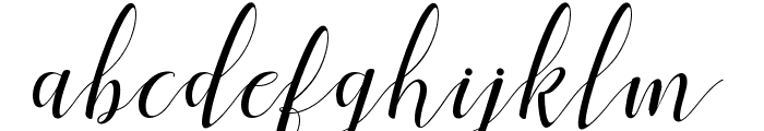 Menttion Script Regular Font LOWERCASE