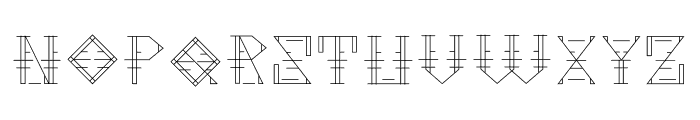 Metropolia Font LOWERCASE