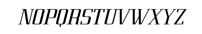 Metropolis Bold Italic Font UPPERCASE