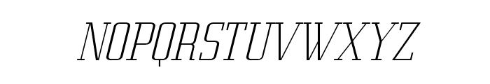 Metropolis Thin Italic Font UPPERCASE