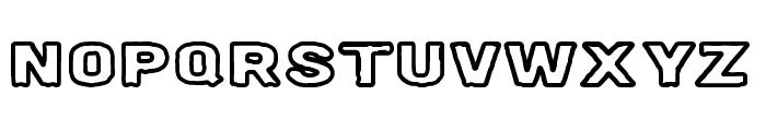Milk Stout Line Font UPPERCASE