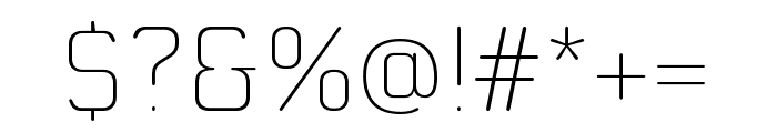 MoldrThai-ExtraLight Font OTHER CHARS