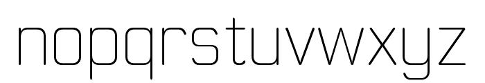 MoldrThai-ExtraLight Font LOWERCASE