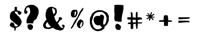 MonkeySausageFont Font OTHER CHARS
