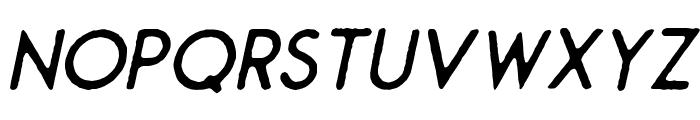 Montharo Edge-Italic Font UPPERCASE