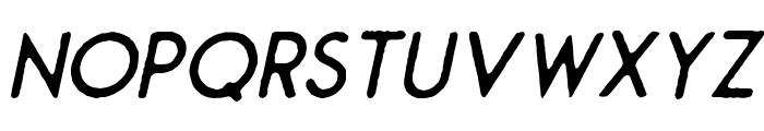 Montharo Edge-Italic Font LOWERCASE