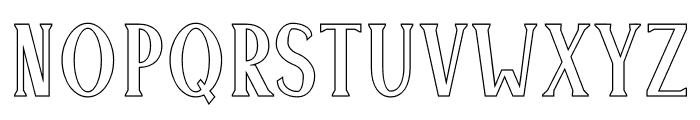 Montrell Outline Font UPPERCASE