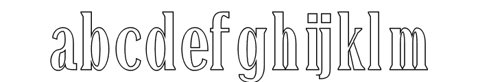 Montrell Outline Font LOWERCASE