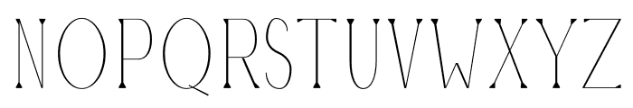 Montrell Thin Font UPPERCASE
