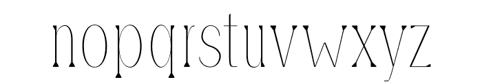 Montrell Thin Font LOWERCASE