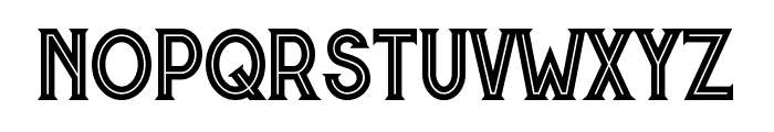 Murray inline Font LOWERCASE