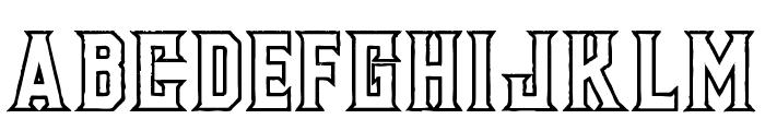 Murray outline grunge Font UPPERCASE