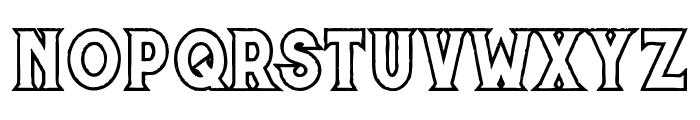 Murray outline grunge Font LOWERCASE