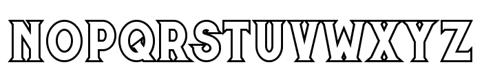 Murray outline Font LOWERCASE
