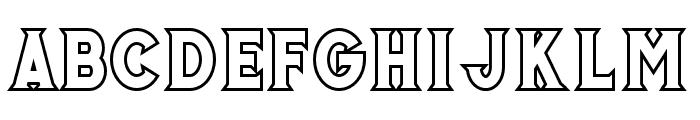 Murrayoutline Font LOWERCASE