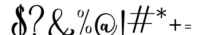 NightwearScript Font OTHER CHARS
