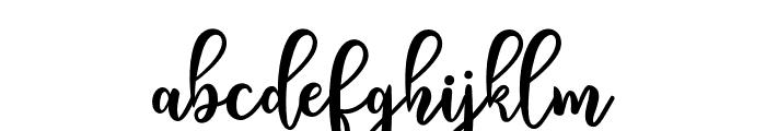 NightwearScript Font LOWERCASE