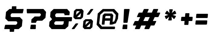 Nostromo Oblique Black Font OTHER CHARS