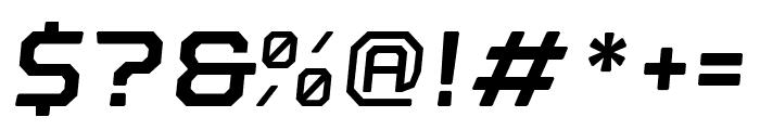Nostromo Oblique Bold Font OTHER CHARS