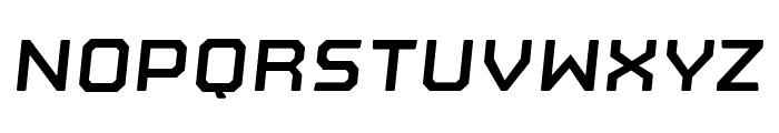 Nostromo Oblique Bold Font UPPERCASE